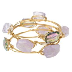 Diy: Amethyst Wire Wrapped Bangle Set