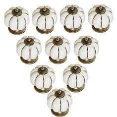 KINGSO 10pcs Pumpkin Ceramic Door Knobs Drawer Pull Handle Cabinet Cupboard Wardrobe KINGSO http://www.amazon.com/dp/B00YGKARK8/ref=cm_sw_r_pi_dp_IZALvb0TWNDJY