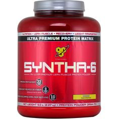 BSN Syntha-6 Banana 5.04 lbs   Regular Price: $93.99, Sale Price: TOO LOW TO SHOW!   OvernightSupplements.com   #onSale #supplements #specials #BSN #ProteinPowder    Syntha 6 is the ultra premium protein with an ultra premium taste Our multi functional protein blend utilizes multiple individual proteins each with varying digestive rates and distinct amino acid profiles This combination ensures active muscles are fed for hours with the most complete blend of proteins available