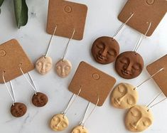 The Diversitlee Diversity Face Skin Colour Hoop Dangle Earrings, Brown Beige and Ivory, Unique Quirky Kidney Wire Earrings Polymer Clay Crafts, Polymer Clay Jewelry, Diy Clay Earrings, Dangle Earrings, Keramik Design, Bijoux Diy, Ceramic Clay, Clay Creations, Biscuit