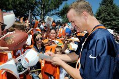 Peyton Manning -- no drama, just performance and leadership! Still my favorite football player of all-time!