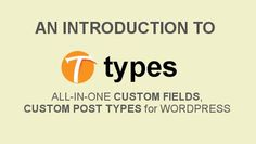 Introduction to the Types plugin for WordPress. This video shows how to create custom post types and fields. Exactly what a good Content Management System needs as part of a Content Strategy.