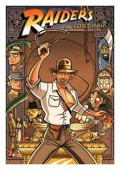 Fantastic Illustrated Movie Posters by Ive Bastrash. #IndianaJones