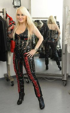 Latex, Rock Queen, Symphonic Metal, Gorgeous Blonde, Best Web, Glamour, Older Women, Leather Fashion, How To Wear