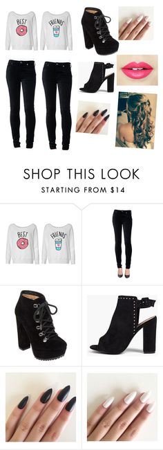 """""""twinning outfit"""" by kirahj28 on Polyvore featuring 7 For All Mankind, Jessica Simpson, Boohoo and Fiebiger"""