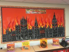 The great fire of London display Teaching Displays, Class Displays, School Displays, Classroom Displays, Classroom Themes, London Kids, London Art, The Fire Of London, Class Board Decoration