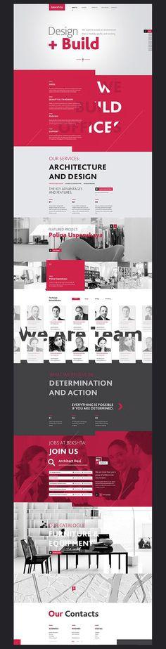 Bekshta Corporate Website Design - art direction, UX / UI research, and web design by Alexey Masalov.: