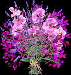 Bloemen Glitter plaatjes