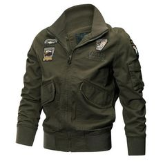 Cheap men military jacket, Buy Quality military jacket directly from China army jacket Suppliers: Men Military Jackets Autumn Winter Tactical Air Force Pilot Coat Quality Cotton Army Jackets Male Casual Outerwear Clothes Rugged Style, Military Bomber Jacket, Military Jackets, Bomber Jackets, Cargo Jacket, Men's Jackets, Combat Jacket, Leather Jackets, Style Brut