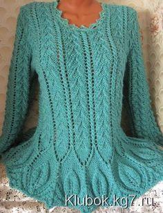 Женский свитер спицами. Автор Муза