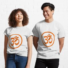 Om Symbol, Peach Orange, Peach Colors, My T Shirt, Female Models, Chiffon Tops, Heather Grey, Classic T Shirts, Shirt Designs
