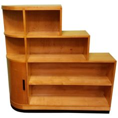 Art Deco Bookcase   From a unique collection of antique and modern bookcases at https://www.1stdibs.com/furniture/storage-case-pieces/bookcases/