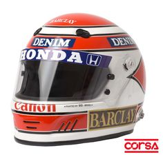 Nelson Piquet / Alan Mosca - Capacete para Kart e Automobilismo em composto de Fibra de vidro com