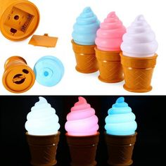 Press the ice cream top to turn the light on or off. 1 x Ice Cream Shape Night LED Light. No messy wires, you can place in anywhere you like. We believe most cases can be resolved through our good communication. | eBay!