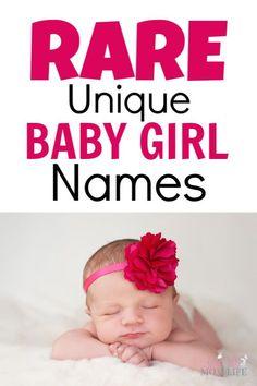 Rare Baby Girl Names, Rare Names, Names Girl, Cute Baby Names, Girl Names For Babies, Unusual Baby Girl Names, Beautiful Baby Girl Names, Beautiful Babies, Interesting Girl Names