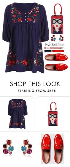 """""""TwinkleDeals"""" by simona-altobelli ❤ liked on Polyvore featuring Gucci and Christian Dior"""