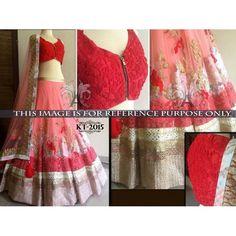 Beautiful Anjali Mahtani Designer Dark Pink Replica Lehenga