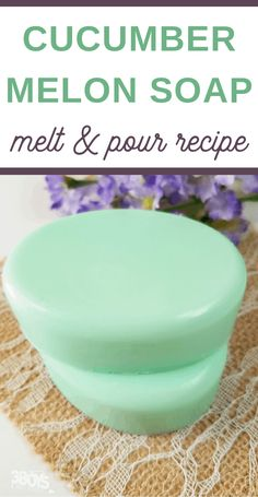 You'll love the ease of this Cucumber Melon Soap Recipe. Plus, this is one flavor that you'll love smelling again and again! Easy to pour and make, this DIY homemade soap is perfect for summer! diy soap Fragrant and Fun Cucumber Melon Soap Recipe Handmade Soap Recipes, Soap Making Recipes, Diy Easy Soap Making, Soap Melt And Pour, Diy Beauté, Sell Diy, Lotion Bars, Homemade Beauty Products, Homemade Cosmetics
