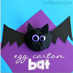 egg carton bat craft for halloween