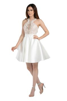 d15e66d75ee8 Style 7870 - POLY USA - Off White short dress. Prom Outfits, Homecoming  Dresses