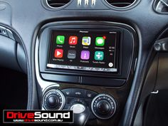 Mercedes Benz SL500 with Apple CarPlay installed by DriveSound.