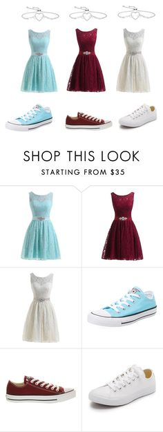 """""""Going to prom with the Squad"""" by slaybeauty101 on Polyvore featuring Converse"""