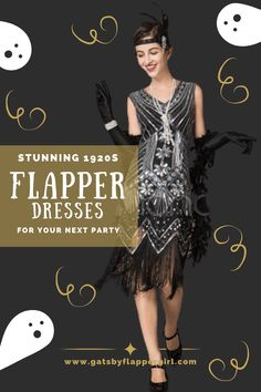 Looking for the perfect flapper dress for your next 1920s party or Halloween?  You will love all our stunning Roaring 20s & Great Gatsby Style Flapper costumes & dresses! Dress to impress!  Click here to see all the great costumes and dresses. Great Gatsby Dresses, Great Gatsby Fashion, 1920s Party, Great Gatsby Party, Flapper Costume, Costume Dress, Gatsby Style, 1920s Dress, Roaring 20s