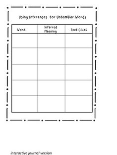 Making Inferences to Understand Unfamiliar Words - Supplements Lesson 10 in Comprehension Toolkit by Harvey Goudvis Comprehension Strategies, Reading Strategies, Reading Comprehension, Guided Reading, Teaching Reading, Teaching Tools, School Daze, School Fun, School Stuff