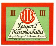 Varasto-olut, Frenckellin kirjapainon arkisto #olut #beer #lager #BorgåBryggeri #PorvoonPanimo Beer, Root Beer, Ale