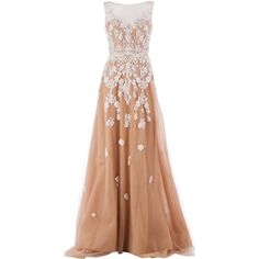 ZUHAIR MURAD embellished sheer gown found on Polyvore
