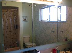 Hinged Bathroom Mirrors with Recessed Storage