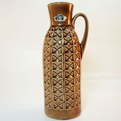 West German Pottery Vase • Bay • 20th mid century - modernist style