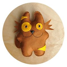 hand made felt cat softie by gigglefactory on Etsy