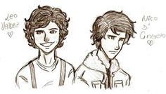 Leo Valdez and Nico DiAngelo cause they are my two fave dudes!  ♥♥♥