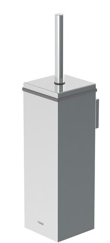Wall-mounted toilet brush and holder square Tiger Items Product dimensions (WxHxD inch): Brushed stainless steel Corrosion resistant Concealed screw mounting Installation hardware included 5 year limited warranty Designed in The Netherlands, made in China Stainless Steel Corrosion, Brushed Stainless Steel, Toilet Brushes And Holders, Mosaic Bathroom, Wall Mounted Toilet, Stone Veneer, Bathroom Accessories, Netherlands, Branding Design
