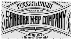 Sanborn map company lettering