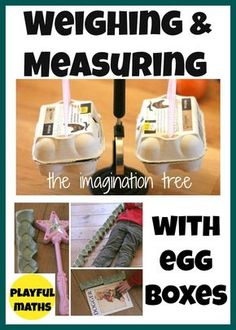 Fun ideas for using egg cartons to create weighing scales and to make a non standard unit of measurement!