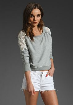 Free People. Tattered Lace Pullover.