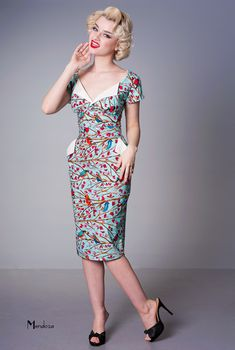 Polly Pencil - vintage style dress with pockets