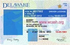 Template Delaware drivers license editable photoshop file .psd