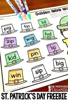 Leprechaun Activities for Kindergarten {with Freebies!!!}