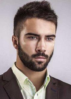 Mens Short Dark Casual Hair