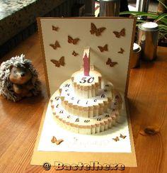 Geburtstagstorte zum 50. Geburtstag einer lieben Bastelfreundin