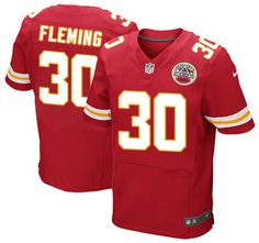 Kansas City Chiefs Jersey 30 Jamell Fleming Red Team Color NFL Nike Elite Jerseys