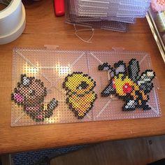 Pokemon (Weedle,Kakuna and Beedrill) perler beads by lyanripe