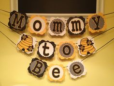 Mommy to Bee baby shower theme - so adorable