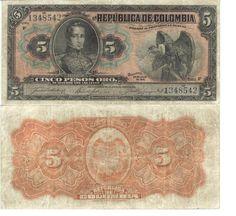 | PESOS DE 1915 COLOMBIA . COLOMBIA MIA