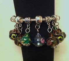 Murano Glass bead charms. Starting at $5 on Tophatter.com!   Euro Bracelet Supplies No.83 April 2, 8pm EDT