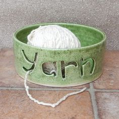 Yarn bowl knitting or crochet wool hand thrown pottery ceramic £22.99