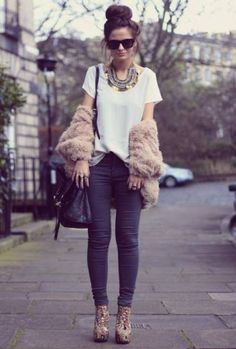 Modern t shirt boots shoes pants casual street hair day wear